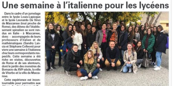 """Gemellaggio con Epinal, una settimana """"à l'italienne"""""""