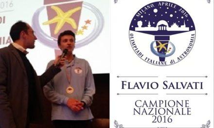 Flavio Salvati  vince le Olimpiadi di Astronomia 2016