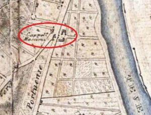 carta topografica del suburbano di Roma 1870