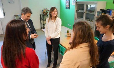 Maria Elena Boschi al Leonardo, contro la violenza sulle donne